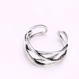 Jewelry - Basketweave 925 sterling silver ring